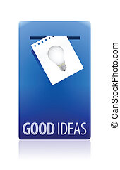 Good ideas booth illustration design over white background