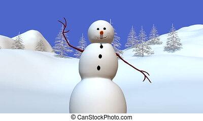 Snowman - talking snowman