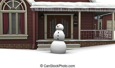 Snowman - danceing snowman