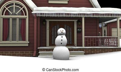 Snowman - dancing snowman