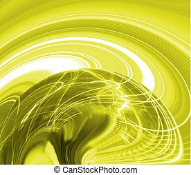 Abstract design showing vibrant activity of brain