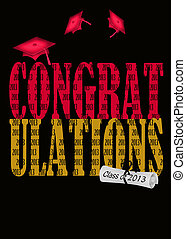 red and gold for class of 2013 - Red graduation caps for...