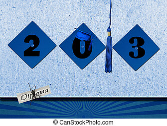 2013 graduation caps with tassel - Blue graduation hats with...