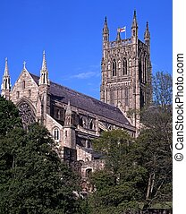 Cathedral, Worcester, England. - Cathedral Church of Christ...