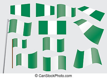 set of flags of Nigeria