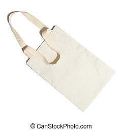 white clothes bag concept reused recycle save nature