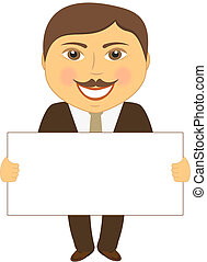engineer with space for text - smile cartoon engineer with...