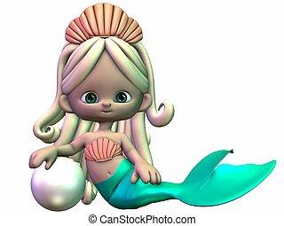 Toon Mermaid - 3D Render of an Toon Mermaid