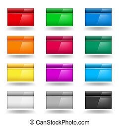Computer Windows - Color set of Computer Windows...