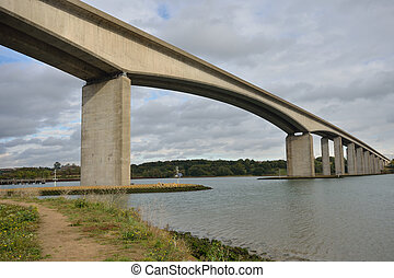 Orwell Bridge from South bank