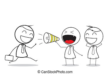 attraction business with megaphone
