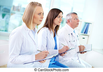Medical education - Portrait of successful medical workers...