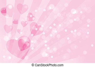 Valentines day card template - Valentines day festive bokeh...