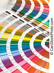 Open Color Guide Swatch - Fanned colour guide displaying a...