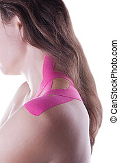 Therapy with kinesio tex tape