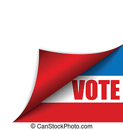Vote United States of America Page Corner - Vector - Vote...