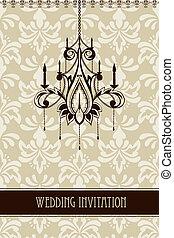 Vector Vintage Wedding Invitation