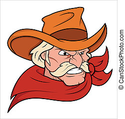 Cowboy Mascot Vector - Creative Abstract Conceptual Design...