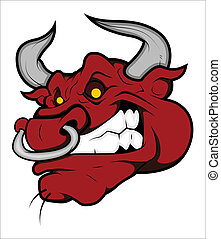 Angry Bull Vector - Creative Abstract Conceptual Art Design...