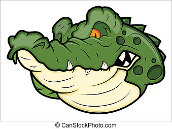 Angry Alligator Vector Mascot - Creative Abstract Conceptual...