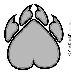 Bear Claws Mascot - Creative Abstract Conceptual Art Design...
