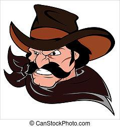 Cowboy Horse Rider Mascot - Creative Conceptual Design Art...