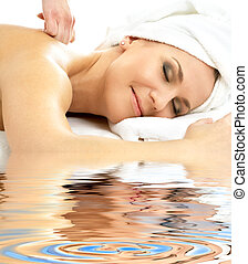 massage pleasure in water #2 - picture of lovely lady...