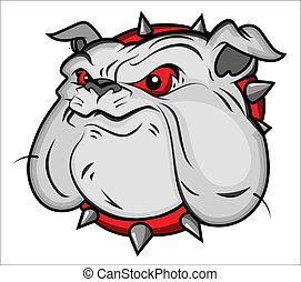 Bulldog Mascot Vector Illustartion - Creative Abstract...