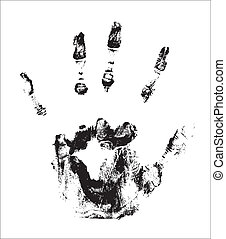 Hand Print - Creative Abstract Conceptual Design Art of Hand...
