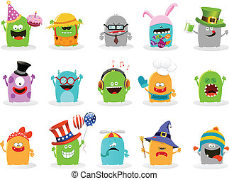 Cute Monster Set - Collection of cute little monsters
