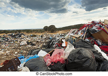 Citys rubbish dump - ALEXANDROUPOLIS, GREECE - SEPTEMBER 11:...