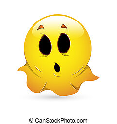 Cute Funny Smiley Ghost Icon
