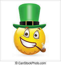 Patriotic Uncle Sam Smiley Icon - Creative Abstract...