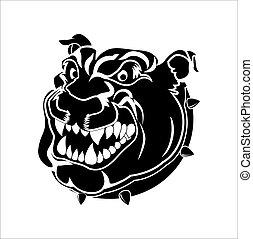 Bulldog Shape Mascot Tattoo Vector
