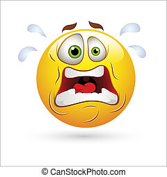 Shocking Smiley Expression Icon - Creative Abstract...