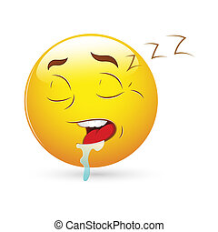 Sleeping Expression Smiley Icon - Creative Abstract...