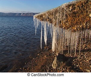 Melting Icicles - Water and ice. Melting Icicles.