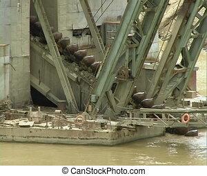 Dredge - Dredge barge on river