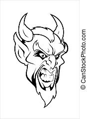 Devil Mascot Vector Character - Creative Abstract Conceptual...