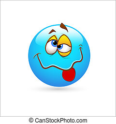 Smiley Emoticons Face Vector Idiot - Creative Abstract...