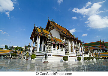 Wat Suthat rayal temple of Bangkok , Thailand