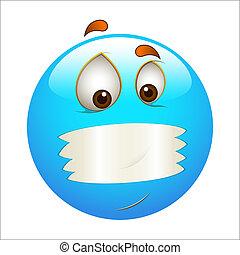 Mouth Shut Smiley Icon Vector - Creative Conceptual Abstract...