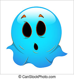 Halloween Ghost Smiley Icon Vector
