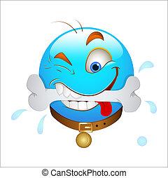 Hungry Smiley Icon Vector - Creative Abstract Conceptual...