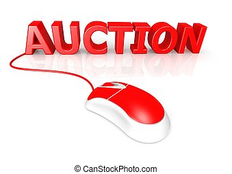 Online Auction - Rendered artwork with white background
