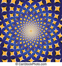 Spiral Star Wheel (op. illusion) - A rotating wheel of stars...