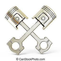 pistons - two pistons isolated on a white background