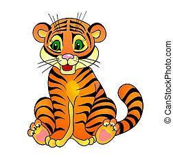 tigre, caricatura