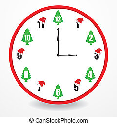special clock with christmas design