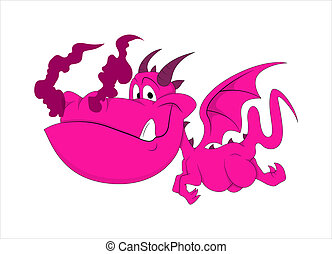 Cute Dragon Baby Illustration - Creative Abstract Conceptual...
